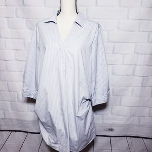 Isabel by Ingrid and isabel striped tunic top xl